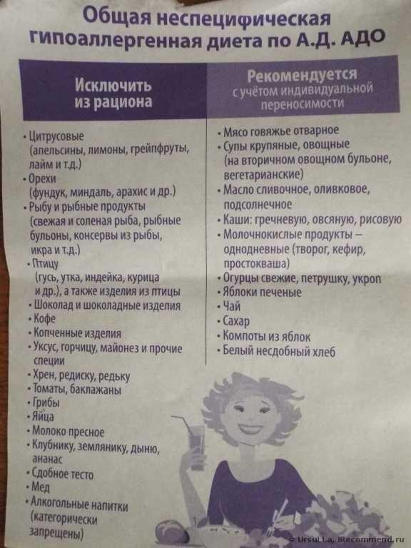 Гипоаллергенная Диета Сосиски. Какая диета считается гипоаллергенной, список продуктов и меню на неделю