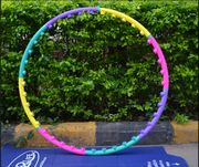 Обруч пластмассовый Aliexpress Lose Weight Sport Hula Hoop Hula Ring Good Fitness Equipment Body Building Hoop PVC Material Three Kind Joint Free shipping
